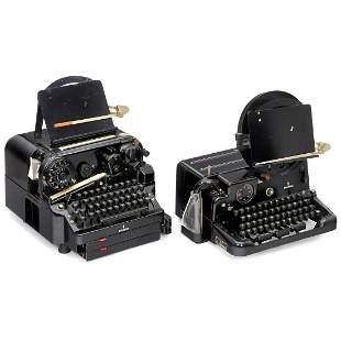 Siemens Teletypewriter and Reperforator, c. 1953