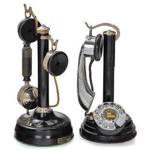 2 French Candlestick Phones, c. 1926