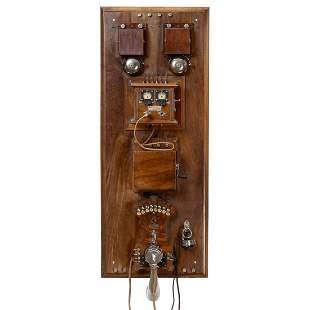 Original French Telephone Switchboard, c. 1912