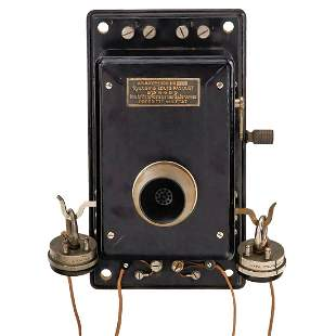 French Wall Telephone by Louis Pasquet, c. 1906
