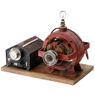 Early Electric Motor with Sliding Resistor, c. 1915