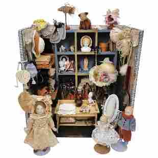 Miniature Hat Shop and Haberdashery