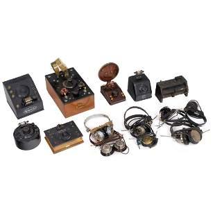 7 Detector Radios and 7 Headphones, 1920–30