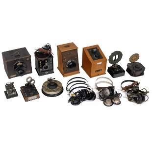 9 Detector Radios and 7 Headphones, 1920–30