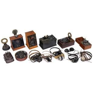 8 Detector Radios and 7 Headphones, 1920–30