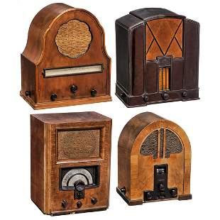 4 German Tube Radios, c. 1933