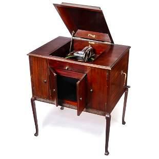 Twin-Soundbox Duophone Floor Cabinet Gramophone, c.