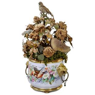 Automaton Singing Bird Jardinière by Blaise Bontems, c.