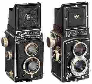 2 Rollei Rolleicord Cameras und Rollei-Zubehör