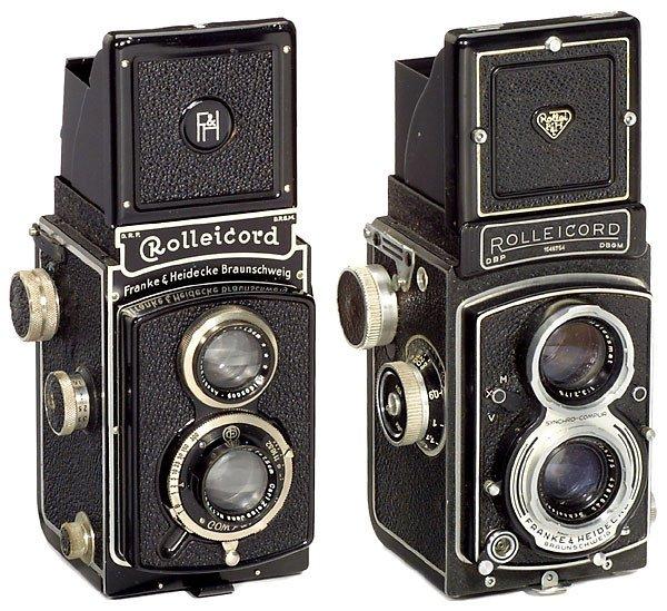 19: 2 Rollei Rolleicord Cameras und Rollei-Zubehör