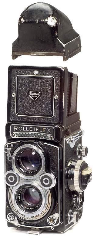Rollei Rolleiflex 3,5 F mit Penta-Prisma, 1960