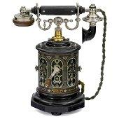 """Coffee Grinder"" Desk Telephone by L.M. Ericsson, 1895"
