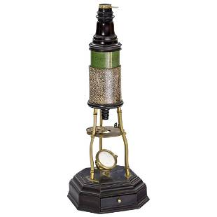 Early Culpeper-Type Compound Monocular Microscope, c.