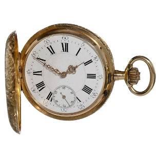 18 K Gold Pocket Watch by Dubois, c. 1885