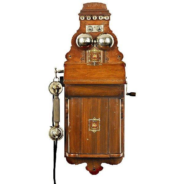 63: Wall Phone Jydsk Telefon Aktieselskab, c. 1900