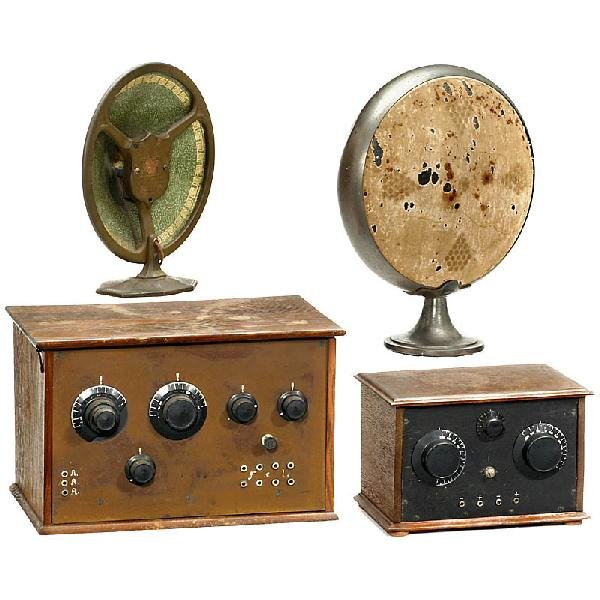391: 2 Early Radios and Loudspeakers, 1920s