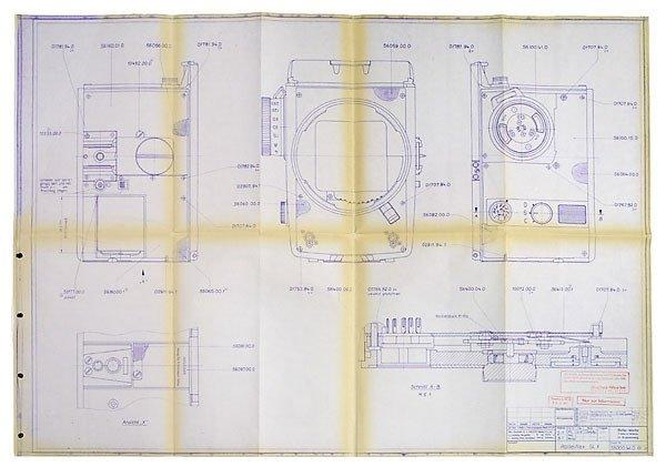2028: Original Rollei Unterlagen, Repair Service Folder