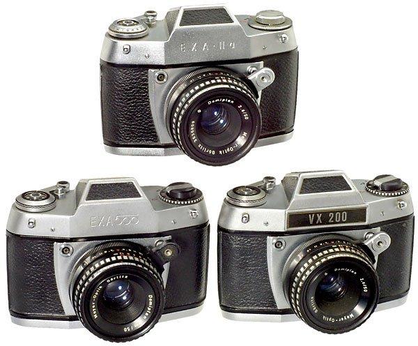 2222: Ihagee: VX 200 und 2 other Exa Cameras