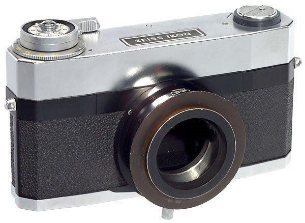 2290: Zeiss-Ikon Contarex Microscope Camera, 1970