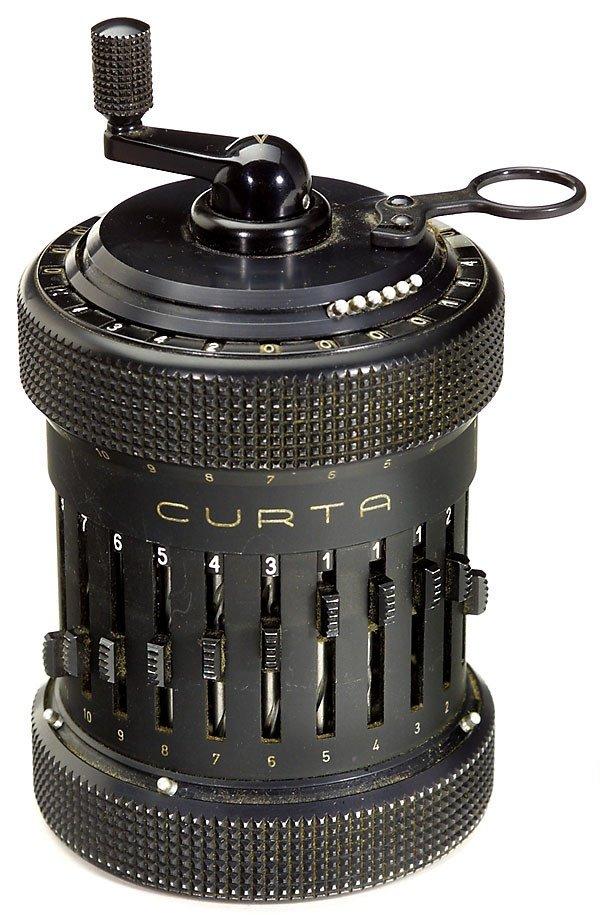 """5: Step-drum Calculating Machine """"Curta Type II"""" 1948"""