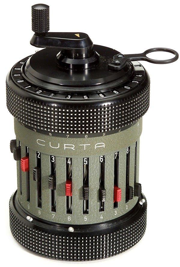 """6: Step-drum Calculating Machine """"Curta Type II"""" 1948"""