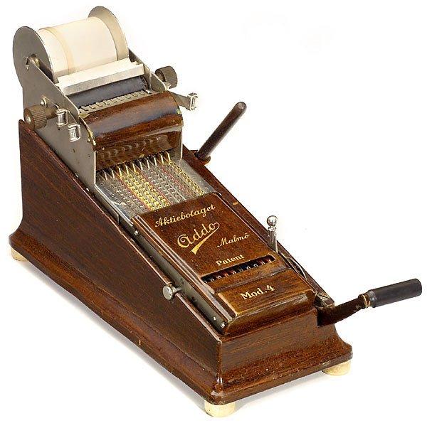 "9: Adder with Printer  ""Addo Mod. 4"" 1920 Calculator"