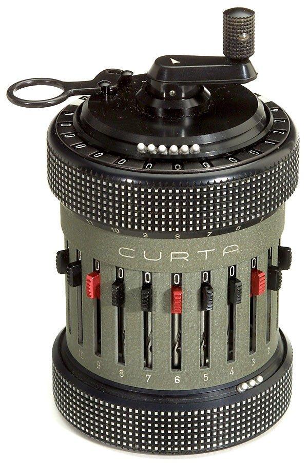 """18: Step-drum Calculating Machine """"Curta Type II"""" 1948"""