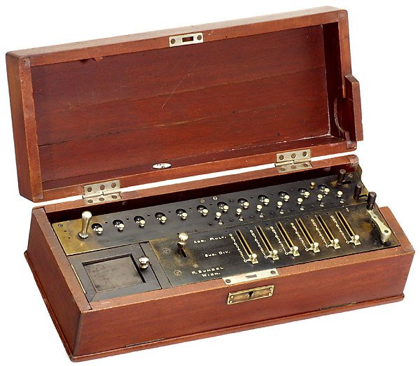 """24: Brass Step-drum Calculating Machine """"Bunzel"""""""