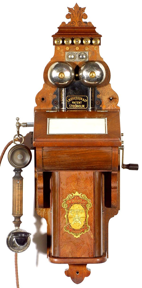 "46: ""Ericsson"" Wall Telephone, c. 1898"