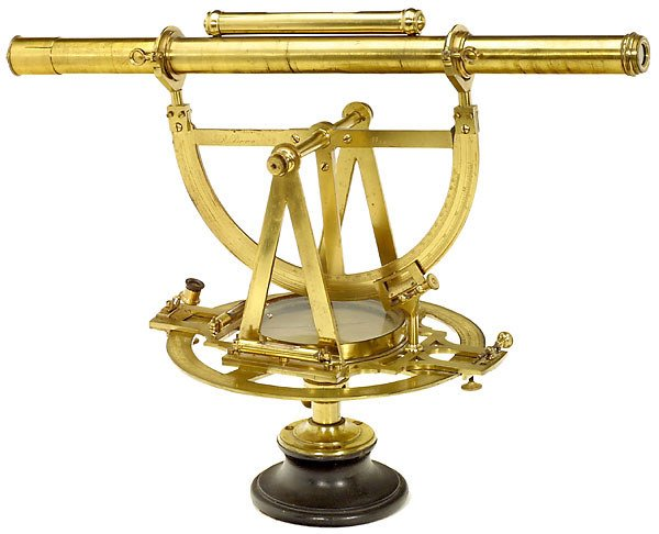 """325: Early English Theodolite by """"J. R. Brown, Maker"""","""