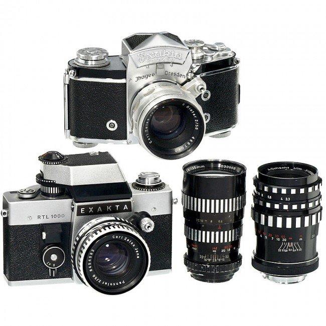 15: Exakta Varex IIa, RTL 1000 and 4 Lenses