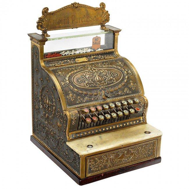 """13: Cash Register """"National Model 325-SH"""", c. 1910"""