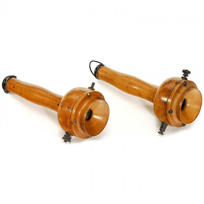 """19: 2 Telephones """"Bell-type"""", c 1880"""