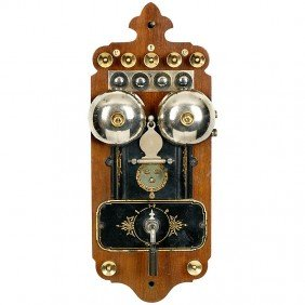 """21: Junction Switch with Bell """"L. M. Ericsson"""", c. 1896"""