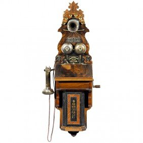 """22: Wall Telephone by """"L. M. Ericsson"""" , 1890 (!)"""