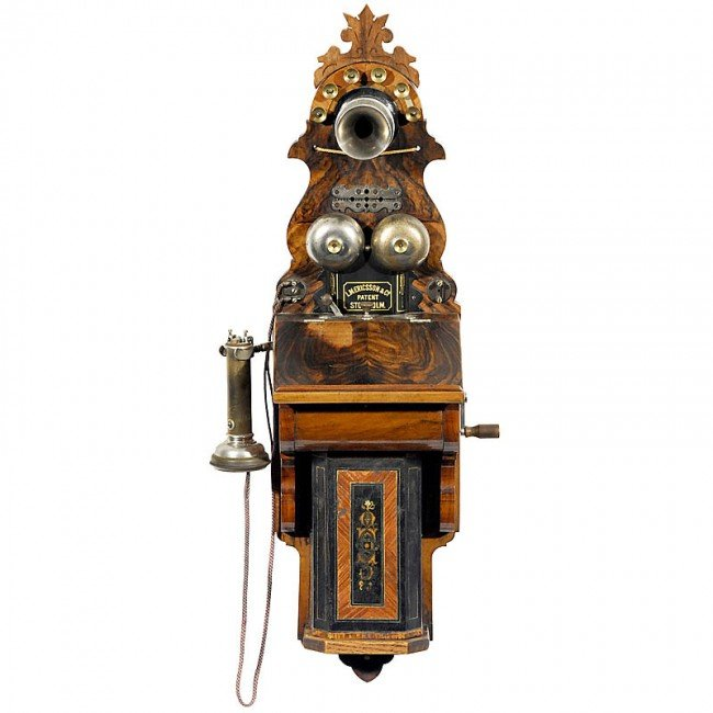 "22: Wall Telephone by ""L. M. Ericsson"" , 1890 (!)"