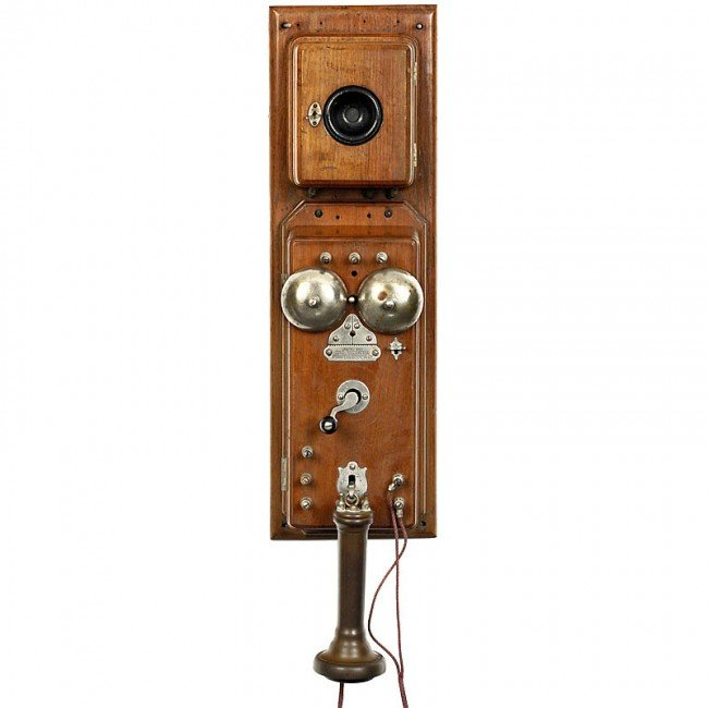 """60: American Wall Telephone """"A. G. Bell"""", from 1876 (!)"""