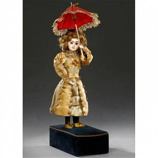 464: Rare Musical Automaton of a Lady with Parasol by R