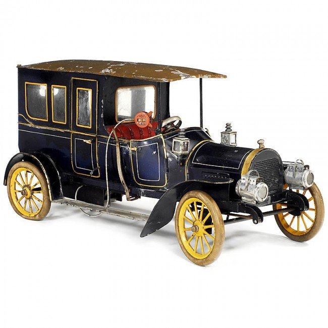 """634: Large Tin Toy """"Taxi"""" by Bing (18 1/2 in.), 1912"""