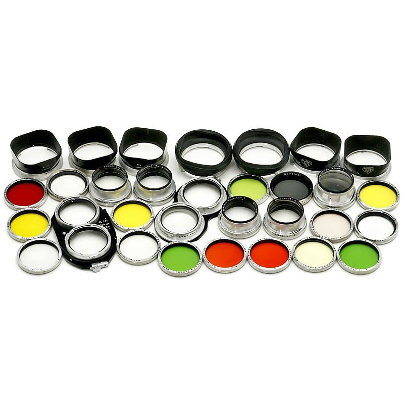 """16: Lot Rollei Filters and Lens Hoods """"R III"""""""