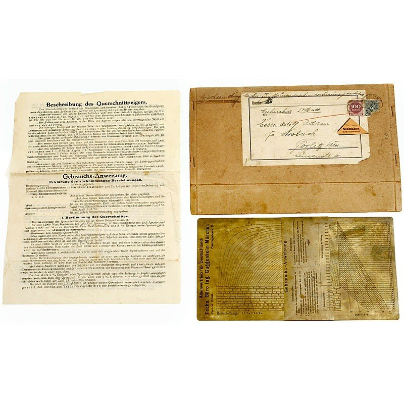 """10: Physical Slide Rule """"Section Indicator"""" c. 1922"""