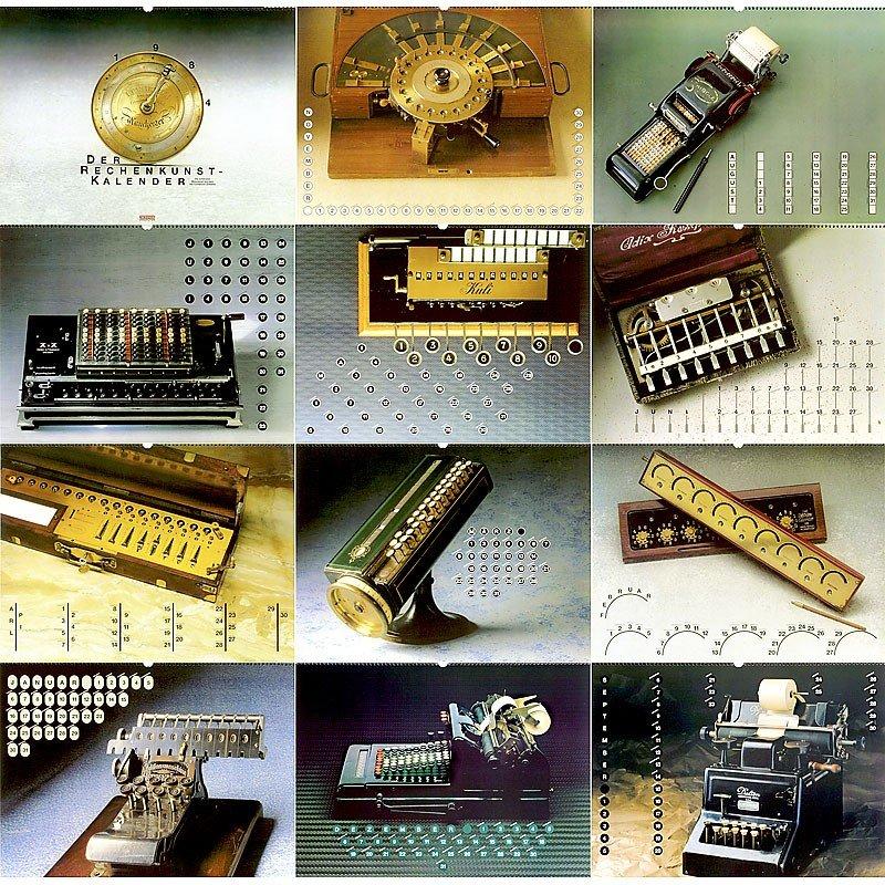 """12: The Legendary Calculator Calendar by """"Nixdorf Compu"""