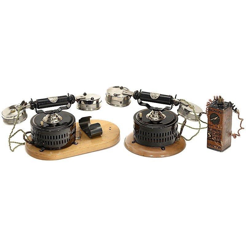 "17: Toy Telephone Set by ""Ernst Plank, Nuremberg"", c. 1"