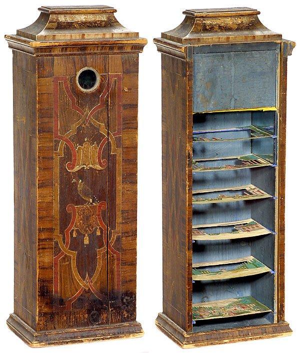 728: Peepshow Box Martin Engelbrecht, um 1750