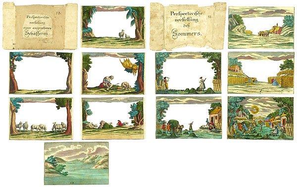 728: Peepshow Box Martin Engelbrecht, um 1750 - 3