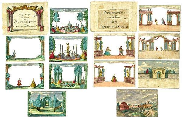 728: Peepshow Box Martin Engelbrecht, um 1750 - 4