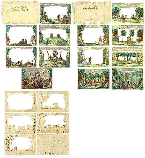 728: Peepshow Box Martin Engelbrecht, um 1750 - 5