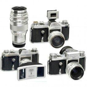3 Contax (VEB) SLR Cameras