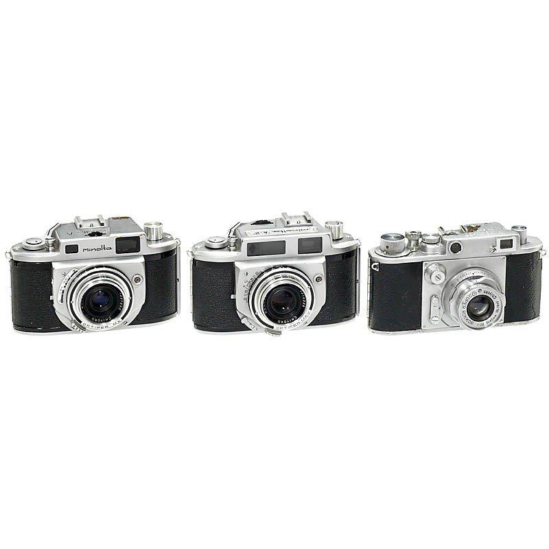 177: 3 early Minolta Cameras