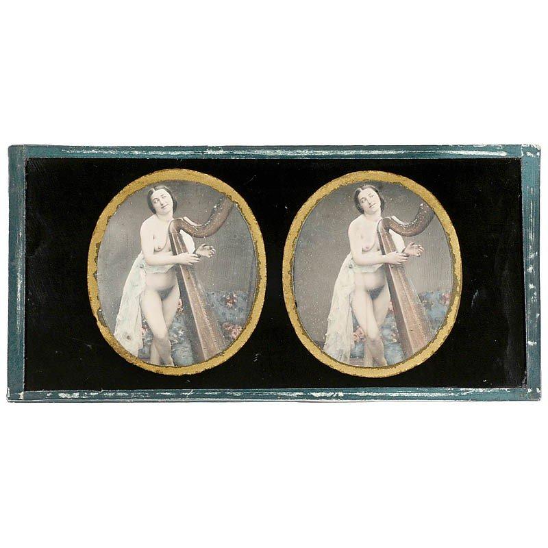 420: Stereo Nude Daguerreotype, c. 1845